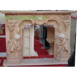 曲阳石雕欧式壁炉 4