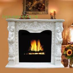 曲阳石雕大理石欧式壁炉 1
