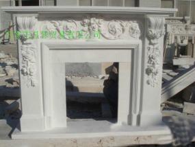曲阳石雕大理石欧式壁炉 2