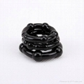 Black silicone cockring penis ring