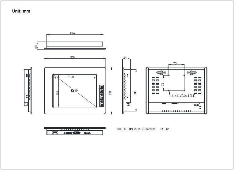 10.4寸工業顯示器帶觸摸屏 4