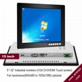 15 inch LCD Industrial monitor with touch screen 1