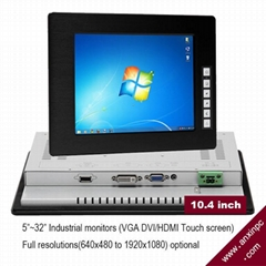 10.4 inches Industrial LCD Display with touch screen