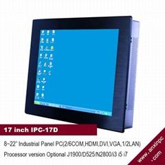 17寸触摸屏工业平板电脑IPC-17D