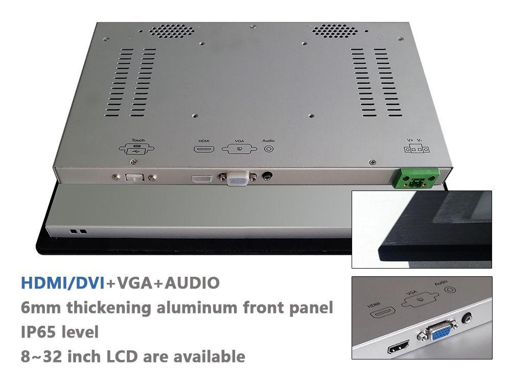 帶觸摸屏1024x768液晶屏的12.1寸工業顯示器 2