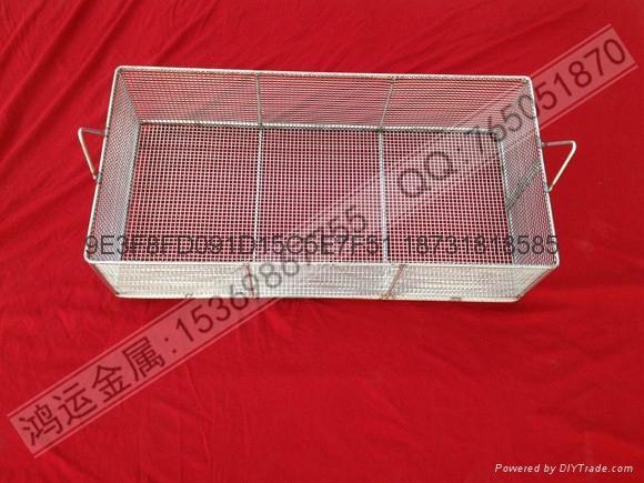 不锈钢材质专业电子清洗网篮 1