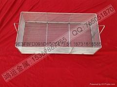 不锈钢材质专业电子清洗网篮