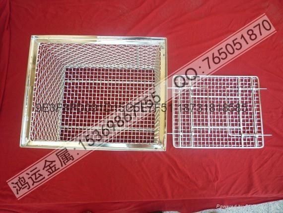 不锈钢材质专业电子清洗网篮 2