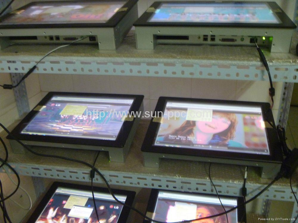 10.4 inch LED industrial all in one pc 3COM RS485  5