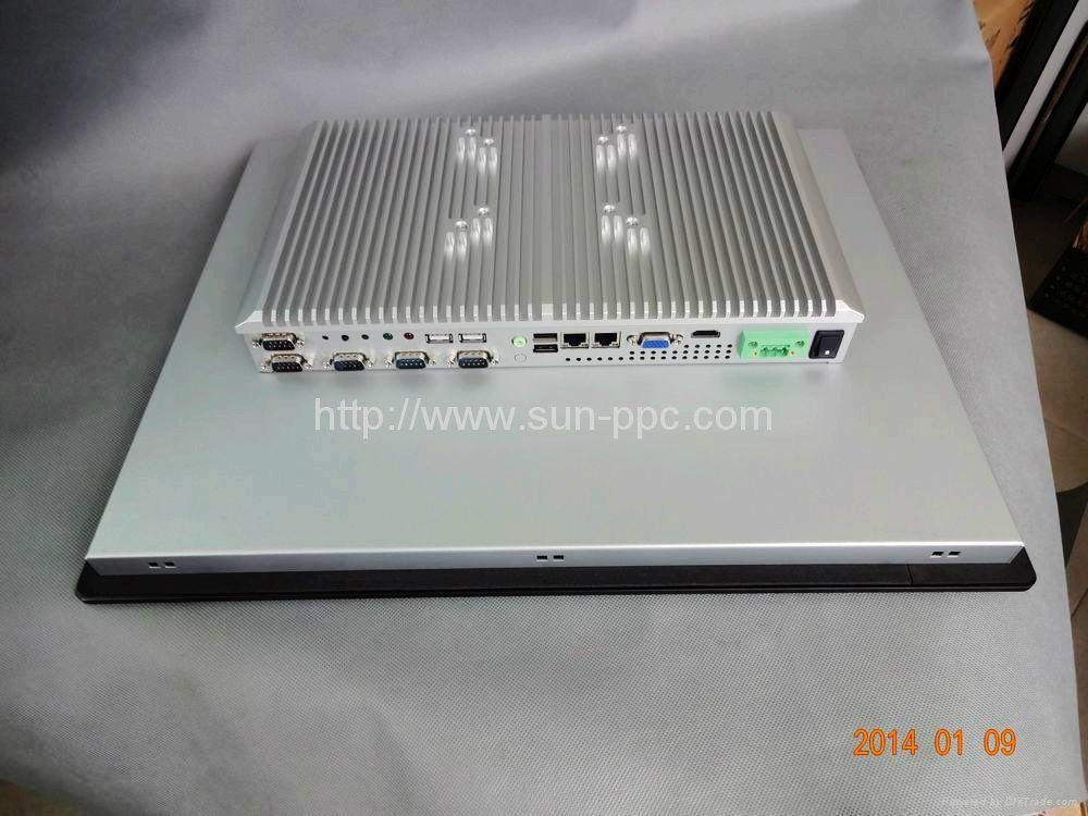 IP6517 inch fanless touch industrial computer N2800 3