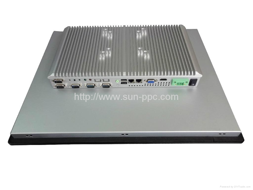 IP6517 inch fanless touch industrial computer N2800 4