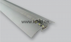 Alu-flat LED aluminum profile extrusion with PMMA /PC diffuser