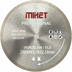 Wet Cutting Continuous Rim Saw Blade for Ceramic or Tile