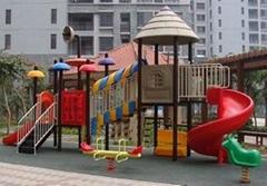 幼儿園組合滑梯安全地墊