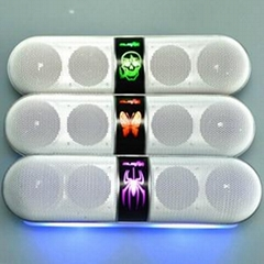 New Pills Wireless Bluetooth Speaker with USB,TF,FM Radio,LED colorful light