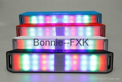 CH-296--Portable Wireless Bluetooth Speaker with LED disco light