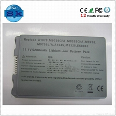 A1078 M9756 Rechargeable Battery for Apple Powerbook G4 15 Inch Aluminum