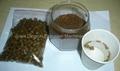 Fish feed samples