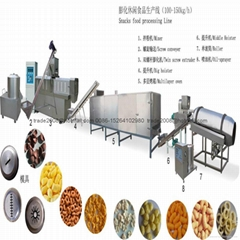 Corn snacks food production line machinery