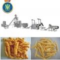 Baked corn curls food extruder line