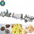 corn fuffed snacks food extruder machine