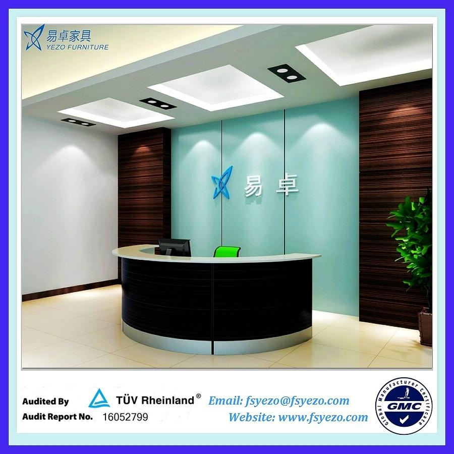 Half Round Reception Desk With 70mm Thick Partition 2