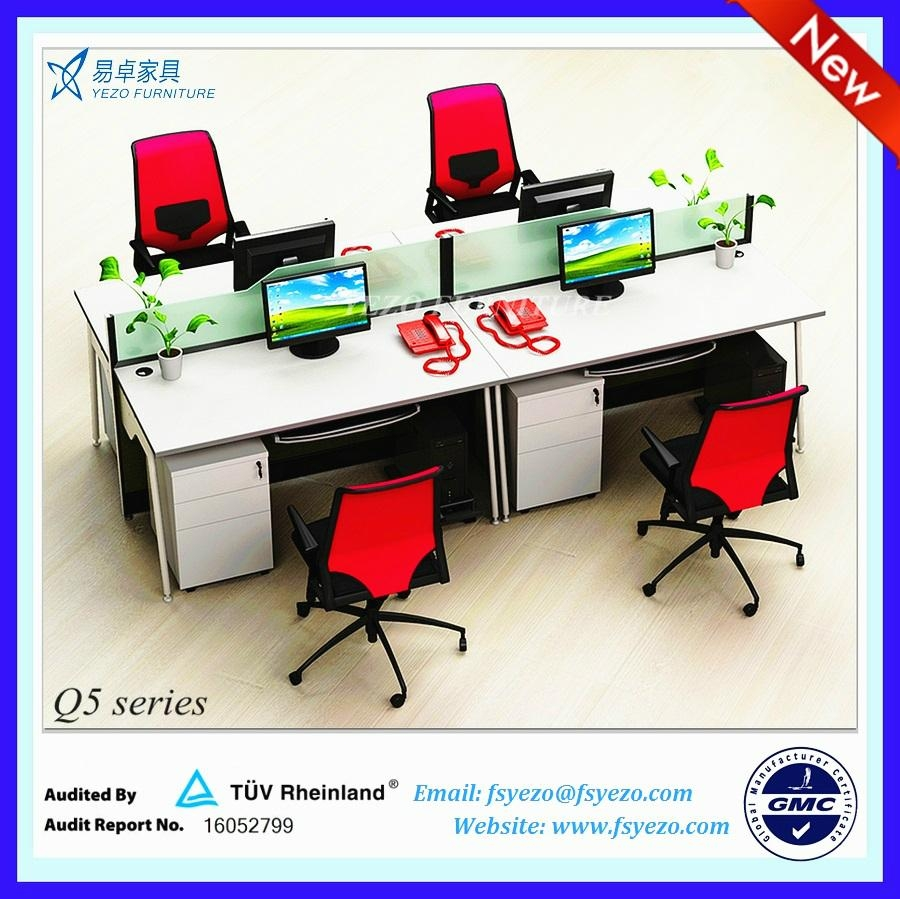 8mm Frosted Glass Office Desk Dividers 2