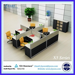 Modern Office Furniture Partitions for 4 persons