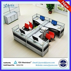 40mm Thick Modular Office Partitions Cubicle Dividers
