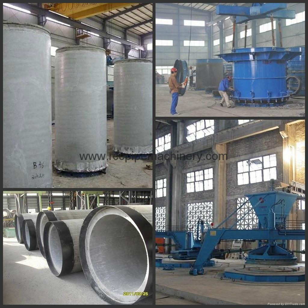 Concrete pipe machine with Vertical Vibration Technology 3
