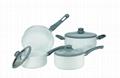 7PC Aluminum Cookware Set with Ceramic Coating