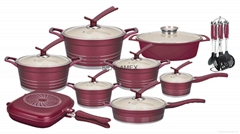 cast casting cookware set Aluminum nonstick ceramic = casseroles marble granite