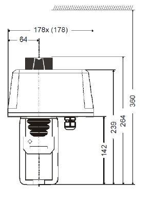 honeywell v5050a2088 dn100 flange 3-way valve