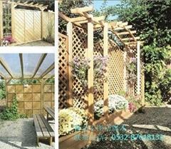 青岛防腐木木廊架