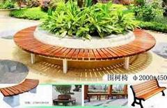 青岛防腐木公园椅