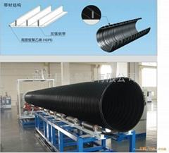 昆达牌HDPE塑钢缠绕排水管