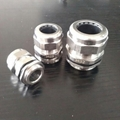 304 stainless steel cable glands with stainless steel steel lock nuts.