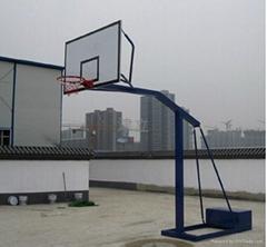 天津國標質量尺寸半包箱式籃球架上門安裝直銷價格