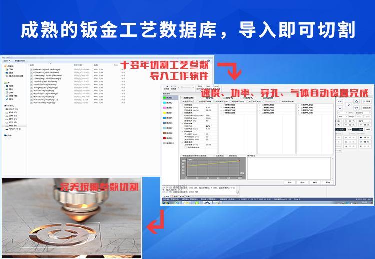 汉马激光风管通风行业HM-G1560大幅面6米激光切割机 3