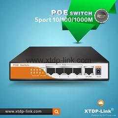 4 port gigabit poe switch with 1 uplink