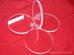 Round small quartz glass plate high tempreture resistant