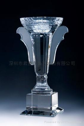 定做深圳水晶高爾夫獎杯 1