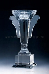 定做深圳水晶高尔夫奖杯