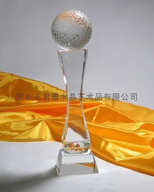 定做深圳水晶高尔夫奖杯 2