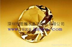 水晶钻石摆件