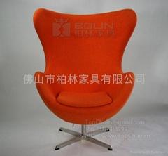 羊毛绒鸡蛋椅(Egg Chair)
