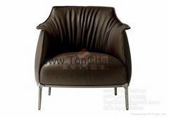 酒店真皮沙發椅子