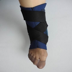 Neoprene ankle support with steel inserts
