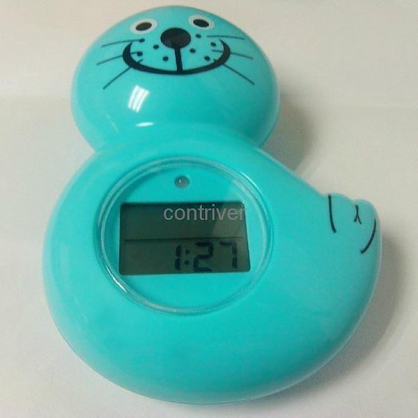 海獅浴缸室內兩用溫度計 2