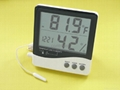 Digital thermometer & Hygrometer with Clock 1